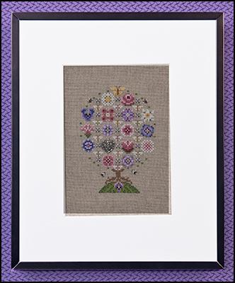 JUST NAN Pansy Mix Flowers Includes Beads Cross Stitch Pattern
