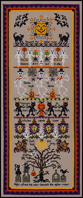Just Nan Jn251 Spider Moon Counted Thread Cross Stitch