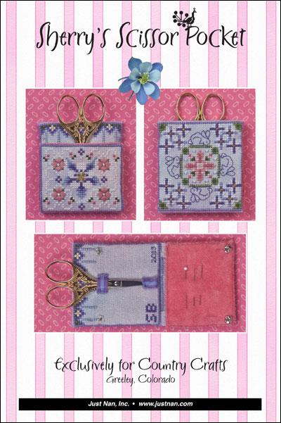 Sherry's Scissor Pocket •  Exclusive Design by Just Nan for Country Crafts • Greeley CO